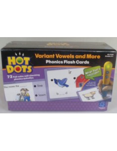 Hot Dots Variant Vowels and More Phonics Flash Cards