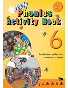 Jolly Phonics Activity Book 6   y, x, ch, sh, th, th