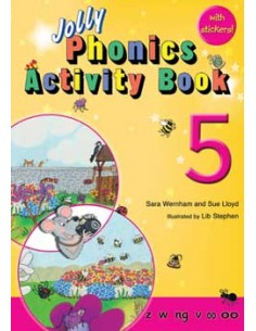 Jolly Phonics Activity Book 5  z, w, ng, v, oo, oo