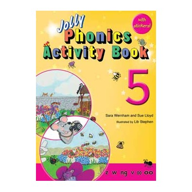 Jolly Phonics Activity Book 5  z, w, ng, v, oo, oo