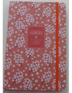 Notebook Flowery Pink