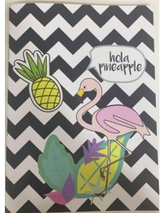Hola Pineapple Flamingo Notebook