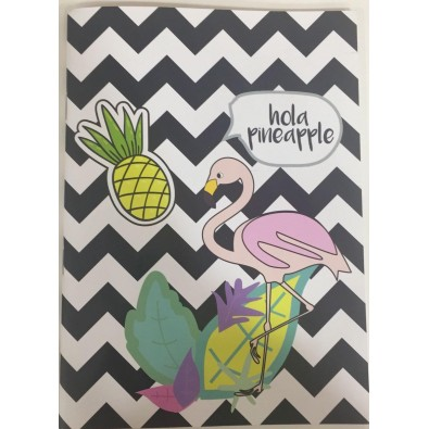 Hola Pineapple Flamingo Notebook